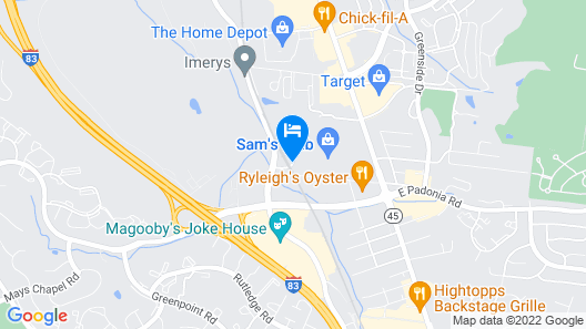 Hampton Inn & Suites Baltimore North/Timonium, MD Map