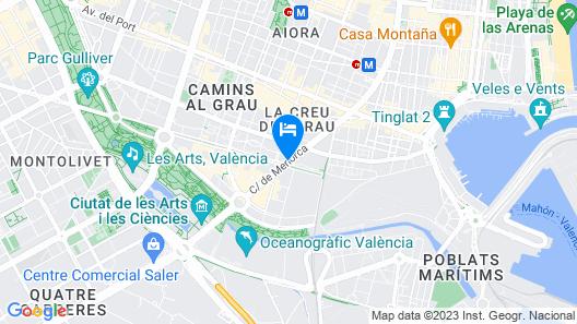 AC Hotel Valencia by Marriott Map