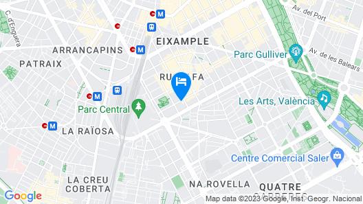 Valencia Flat Rental-Apartment Ruzafa Centelles 2 Map