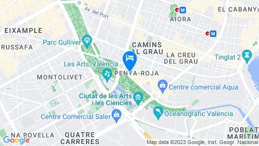 Hotel Valencia Alameda 41 Map