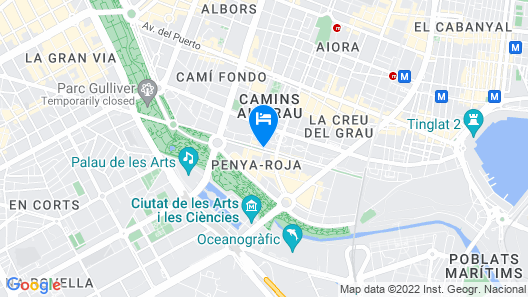 Hotel Valencia Center Map