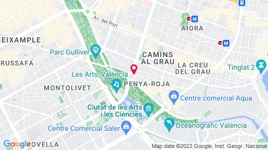 Barcelo Valencia Hotel Map