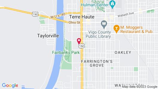 Quality Inn Terre Haute University Area Map
