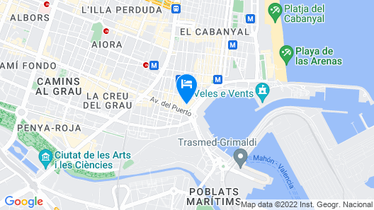 Sea You Hotel Port Valencia Map