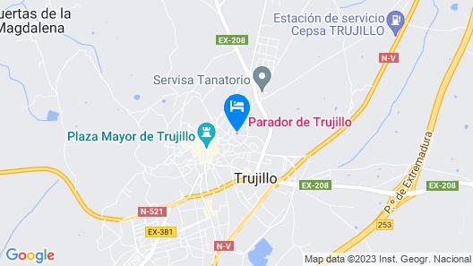 Parador de Trujillo Map