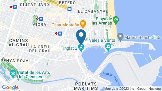Nanit Hostel Valencia Map
