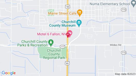 Motel 6 Fallon, NV Map