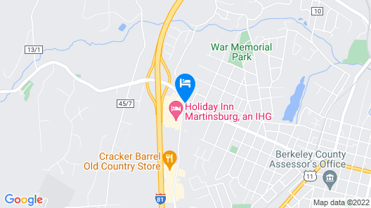 Holiday Inn Martinsburg Map
