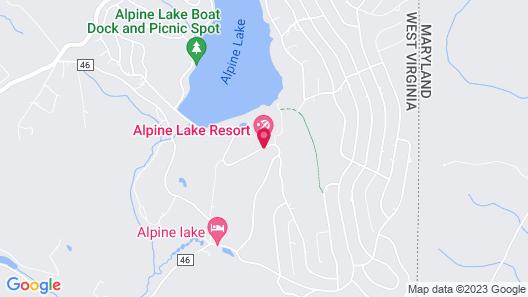 Alpine Lake Resort Map