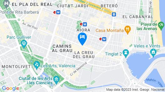 NH Ciudad de Valencia Hotel Map