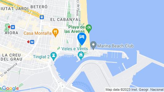 El Coso Hotel Map