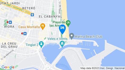 Hotel Sabbia by Gabbeach Map
