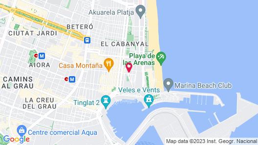 BB Valencia Beach Apartments Map