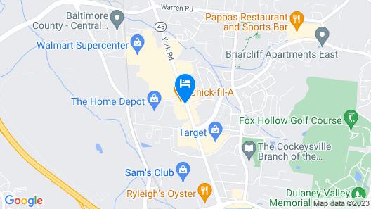 Ramada Limited Cockeysville Map