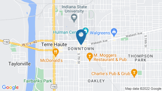 Candlewood Suites Terre Haute Map