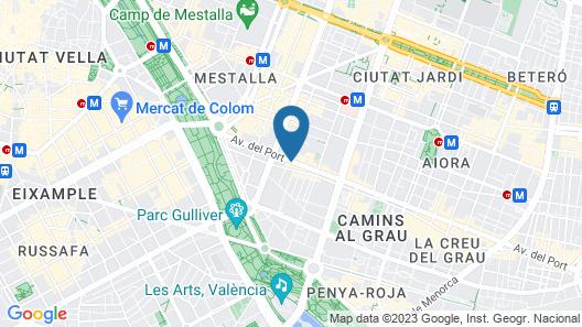 Hotel Villacarlos Map