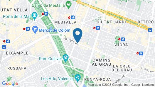 Casual de las Artes Valencia Map