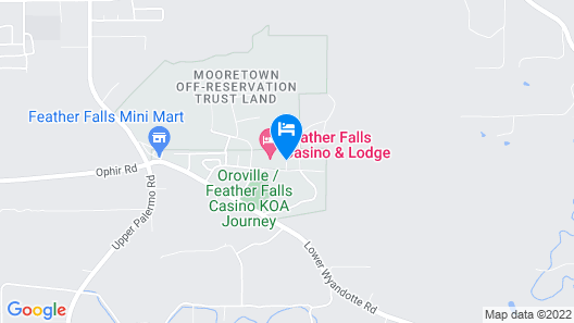 Lodge At Feather Falls Casino Map