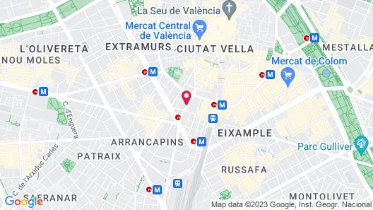 Valencia Luxury Ático Ayuntamiento Map