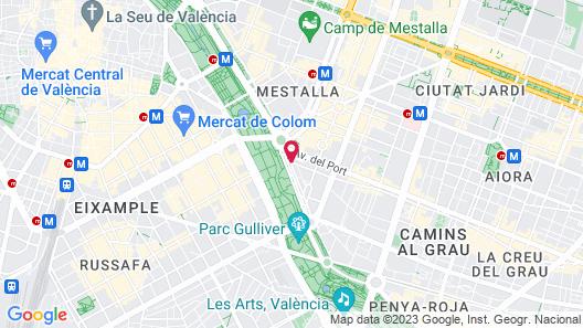 SH Valencia Palace Hotel Map