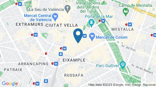 NH Collection Valencia Colón Map