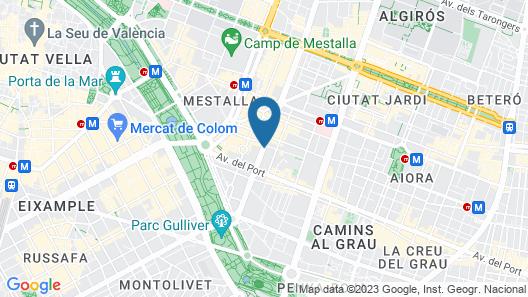 Hotel Silken Puerta de Valencia Map