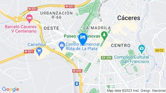 Extremadura Hotel Map