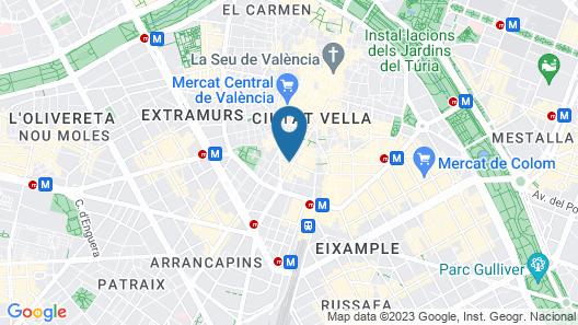 Casual de la Música Valencia Map