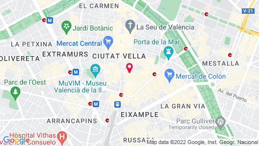 One Shot Palacio Reina Victoria 04 Hotel Map