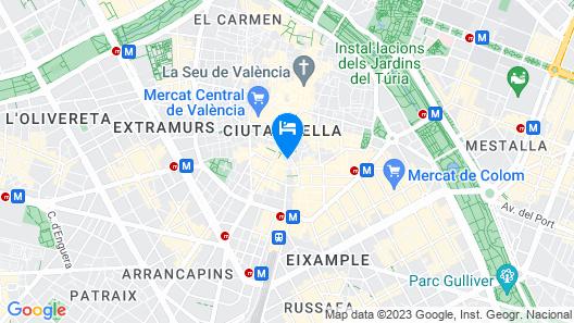 Venecia Plaza Centro Map