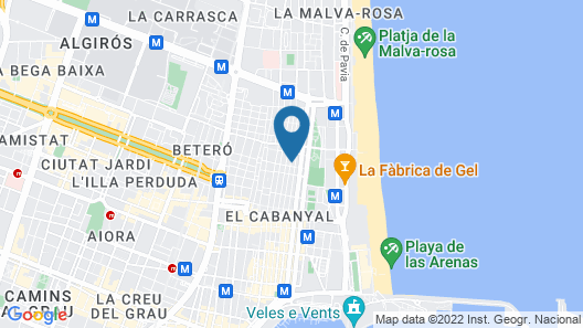 Independent Apartment With Wifi, Terrace and 300m From Valencia Beach Map