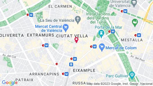 Apartamentos Wallace Valencia Map