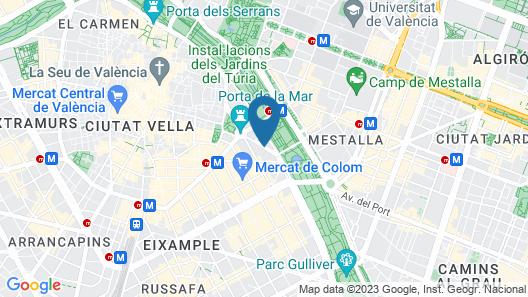 Hotel Hospes Palau de la Mar Map