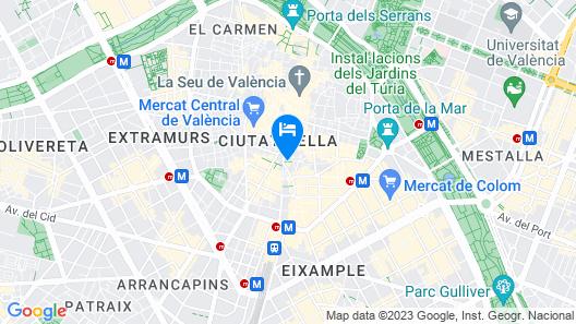 Casual Vintage Valencia Map