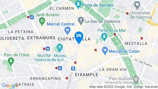 Catalonia Excelsior Hotel Map
