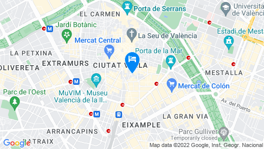 Only YOU Hotel Valencia Map