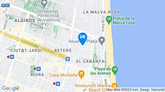 Style Apartments Cabanyal Marina Beach Map