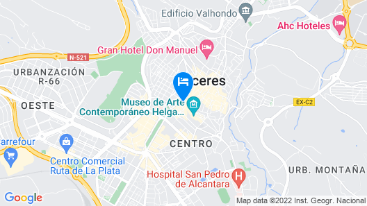 Don Carlos Cáceres Map
