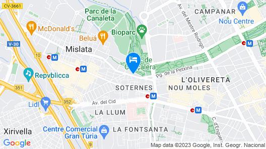 River Park Valencia Map