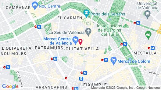 Hotel Plaza Mercado Map