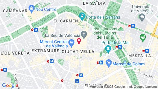 Happy Apartments Lope de Vega Map