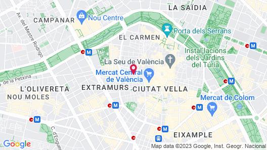Happy Apartments Valencia Map