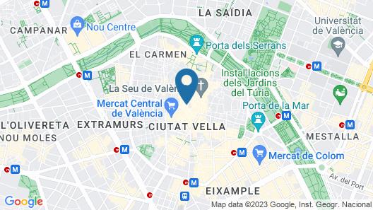 Hostal Antigua Morellana Map