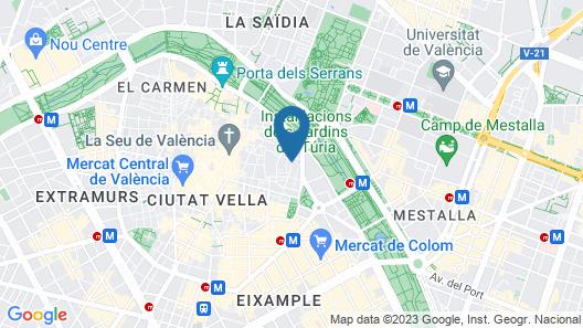 Hulot B&B Valencia Map