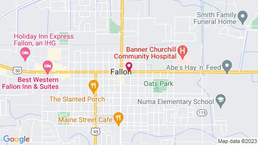 Econo Lodge Fallon Naval Air Station Area Map