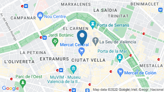 Valencia Lounge Hostel Map