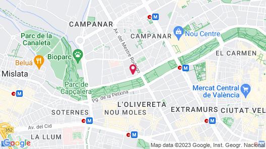 Apartamentos Plaza Picasso Map