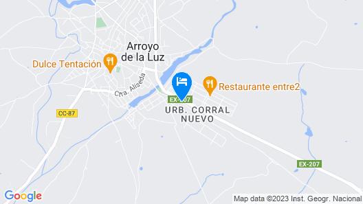 Albergue Municipal de Arroyo de la Luz Map