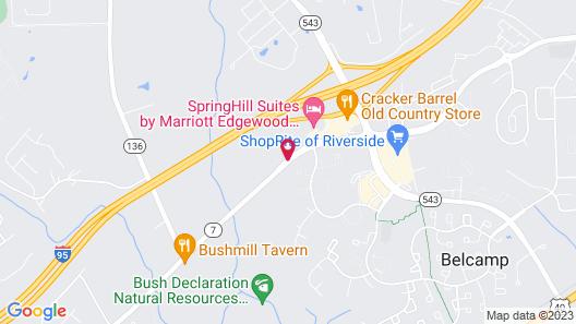 Homewood Suites by Hilton Bel Air Map