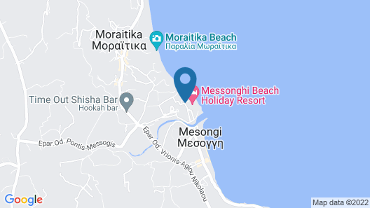 Messonghi Beach Hotel - All Inclusive Map